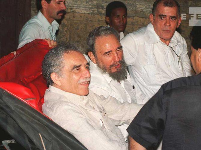 O Prémio Nobel da Literatura, Gabriel García Márquez e Fidel Castro na Cúpula Ibero-Americana